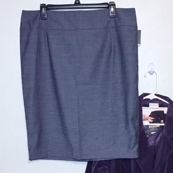 4305802873661 NEW Mossimo Gray Pencil Skirt Plus 16